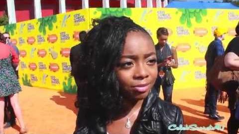 Skai Jackson Interview - 2015 Kids' Choice Awards