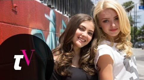 Peyton List and BFF Kaylyn Hang out at the Star's Home in Sunny L.A