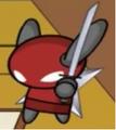 Red Ninja With Kantana