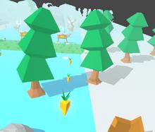 Trees Pine Bunny Skate