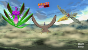 Sasuke, Ryosuke y Shikamaru invocan a sus criaturas