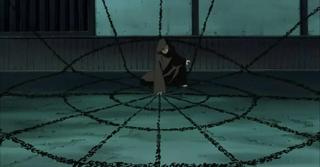 Chizuru usando el Jutsu de Invocación