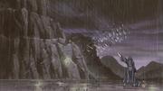 Shikamaru usando Shinra Tensei