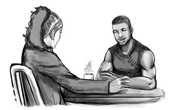 Jennifer and Thud speaking Burning-Suns Conflagration-Issue-3 sketch