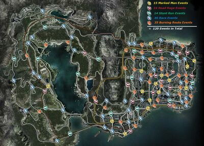 Burnout Paradise Event Map