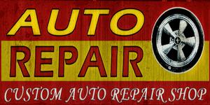Auto Repair sign