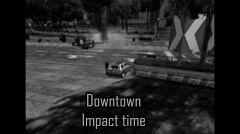Downtown, crash 2 (Impact time) - Burnout 3- takedown
