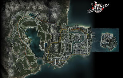 Paradise City Map (with Island)