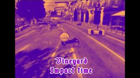 Vineyard, crash 1 (Impact time) - Burnout 3- takedown