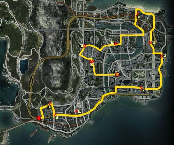 Carparks-route