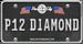 Diamond License Plate