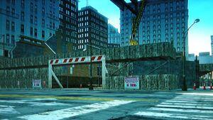 Downtown deconstruction site