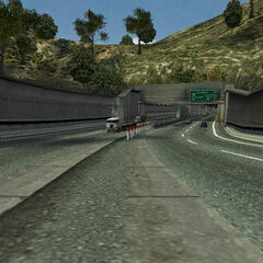 Approaching the second tunnel.