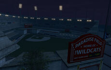 Wildcats Baseball Stadium (night)