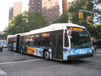 New York City Transit NovaBus LFS 1254 M15 SBS