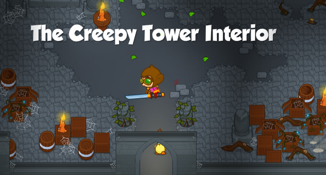 The Creepy Tower Interior Banner