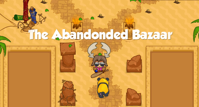 The Abandoned Bazaar Banner