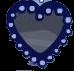 Rhinestone Heart Cape