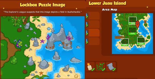 BW2 Explorers league Puzzle Lower Juau Island