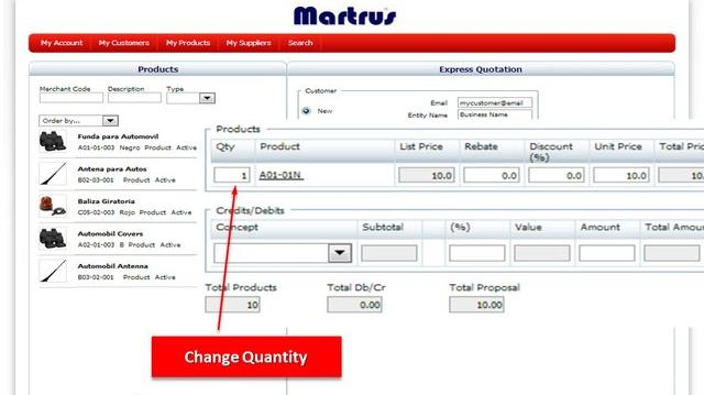 Easy Quote Generation - B2B Portal - Marketplace