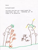 The Scared Leopard Drawing and Story