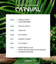 Carnival schelude