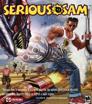 Serious Sam - The First Encounter - US Windows box art - Croteam