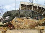 BYU cougar Statue