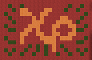 Chi rho with laurel wreath flag
