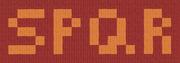 Minimalist spqr flag