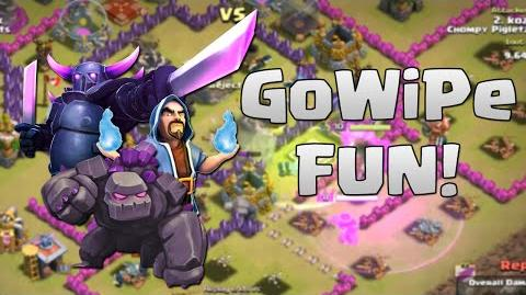 Clash of Clans - TH9 GoWiPe Attack Fun - Clan Wars