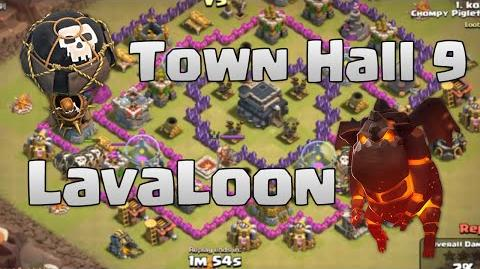 Clash of Clans - TH9 LaLoon Clan War Attack Strategy