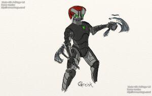 Greisk, speed art