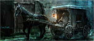 640x280 1749 On The Road 2d fantasy horse vehicle picture image digital art