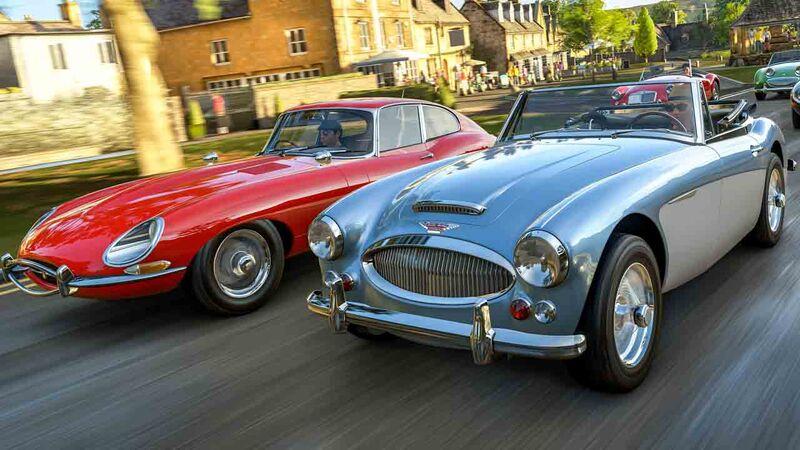 Classic British cars race in Forza Horizon 4