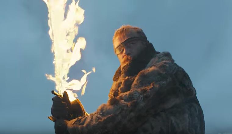 game of thrones season 7 beric dondarrion flaming sword hero