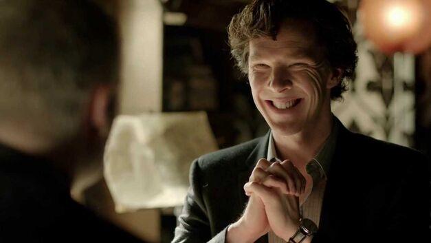 Sherlock Scary Grin
