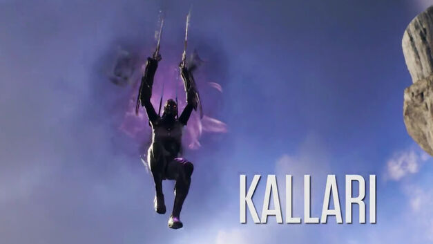 Kallari leaping into battle in Paragon.