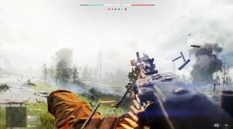 Prone firing while on back in Battlefield V