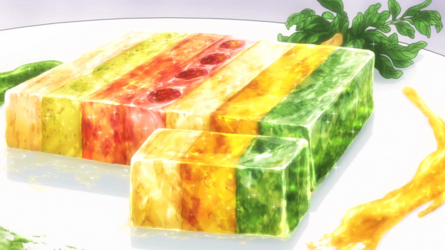 Rainbow Terrine from 'Food Wars!'. jpg