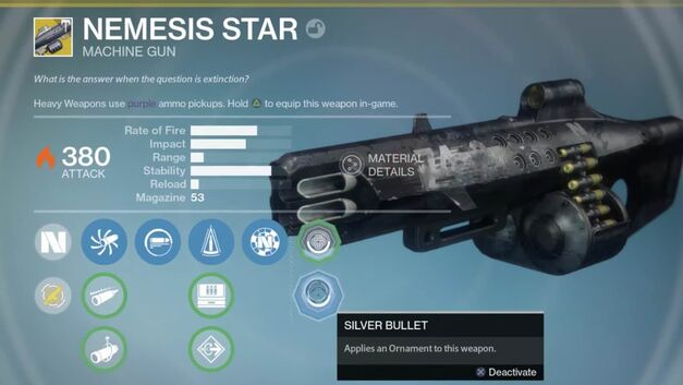 Nemesis Star from the Destiny Rise of Iron new weapons