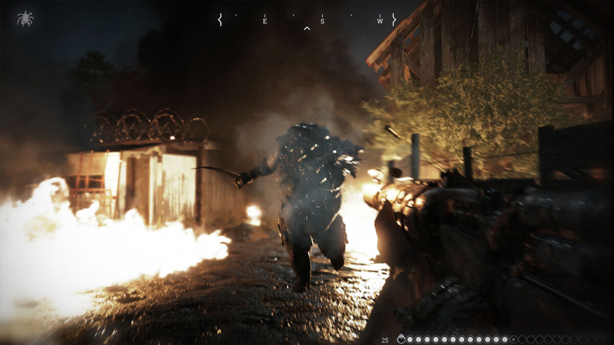 a big fat monster chases you down in Hunt Showdown