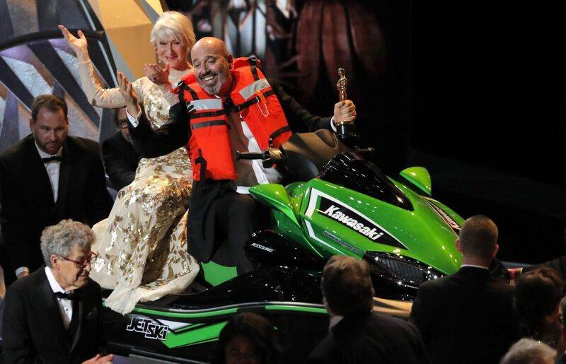 Oscars helen mirren jetski