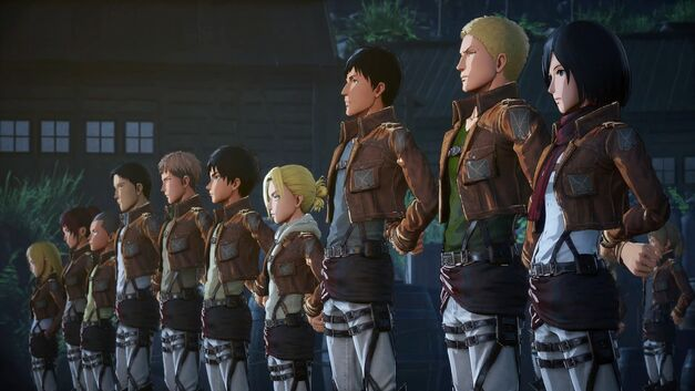 Attack on Titan Characters lined up
