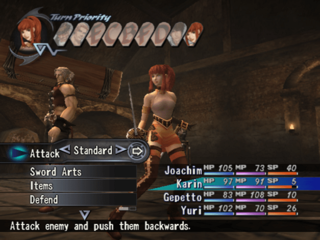 A screenshot of Shadow Hearts: Covenant for PlayStation 2.
