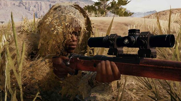 PlayerUnknown's Battlegrounds sniper ghillie suit