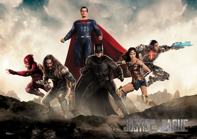 justice league superman poster