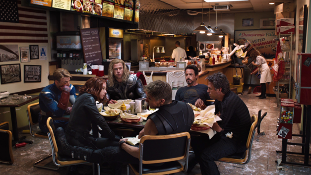 The Avengers post-credits scene.