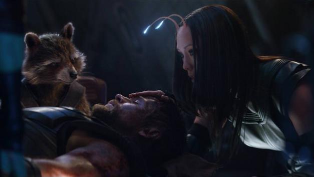 Avengers Infinity War Rocket Thor Mantis