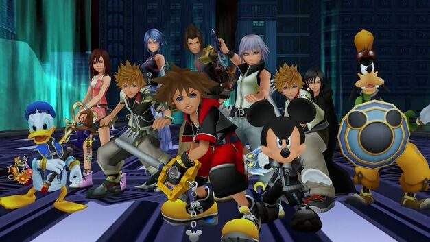 Kingdom Hearts' Sora and friends are battle-ready.